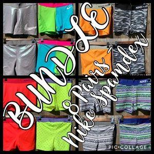 BUNDLE - 8 Nike Spandex Shorts